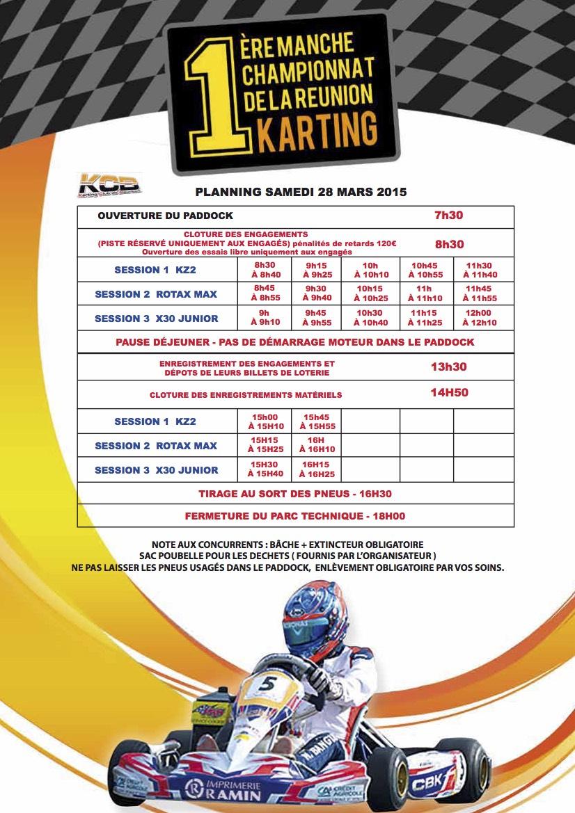 Programme 28 Mars Karting 974 KCB