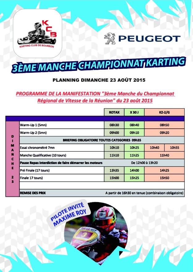 3e Manche Karting Réunion 2015